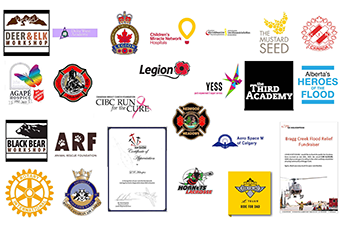 L R Helicopters community involvements
