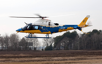 Aerial work services at L R Helicopters