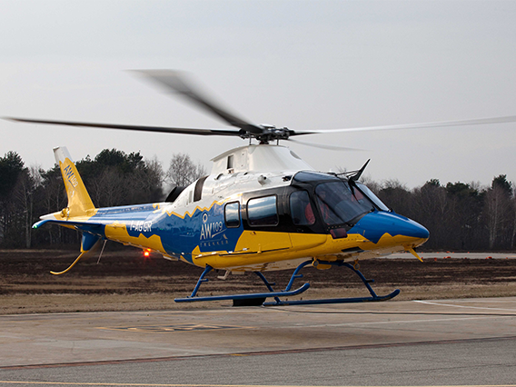 L R Helicopter Aircraft Agusta-109S