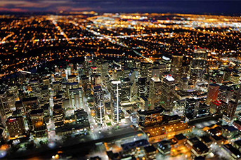 Aerial photography in Calgary Alberta Canada and the Canadian Rockies
