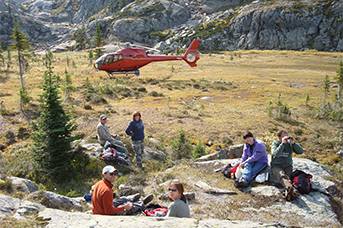 L R Helicopters Picnic on a Peak